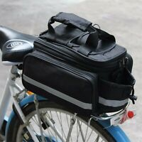 Bicycle Seat Rear Bag Waterproof Bike Pannier Rack Pack Shoulder Cycling Carrier