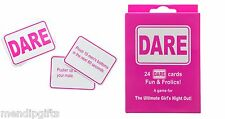 24 FUN DARE CARDS HEN PARTY GAMES HEN NIGHT ACCESSORIES PARTY BAG FILLER FAVOURS