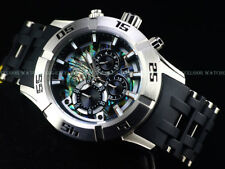 New Invicta Men's 50mm Sea Spider II Abalone Dial Chrono Poly Bracelet SS Watch