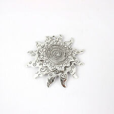 3PCS Tibetan Silver Large Sun GearCharms Pendants for Necklace Accessories