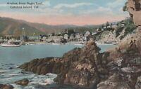 Avalon From Sugar Loaf Catalina Island California Divided Back Vintage Postcard