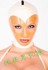 100% Latex Gummi Rubber Mask Nurse Hood 0.45mm Catsuit Bodysuit Clinic Costume