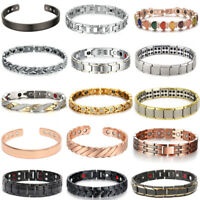 Men Women Therapeutic Energy Healing Magnetic Bracelet Therapy Arthritis Jewelry