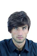 Perruque Perruque pour homme marron rouge brun COMPLET cheveu Raie wl-2362-4/33