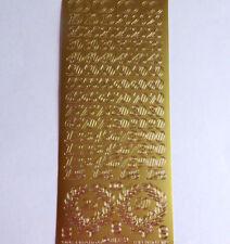 Markenlose Bastel-Sticker & Stickerbögen Gold