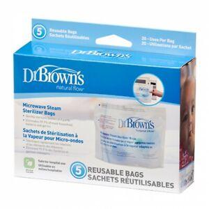 Dr Brown's Microwave Sterilizer Bag 5pack