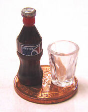 1:12 Small Pepsi Bottle T2 & Glass Tumdee Dolls House Pub Bar Cafe Drink NG