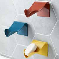 Self Adhesive Soap Rack Sponge Holder Case Shower Shelf Drain Box Soap Dish UK