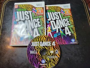 Just Dance 4 (Nintendo Wii, 2012) *BUY 2 GET 1 FREE+FREE SHIPPING*