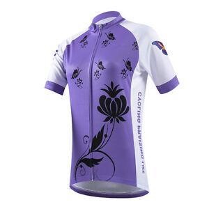 Purple Butterflies Women's Cycling Jerseys Bike Bicycle Mountain Biking Shirts