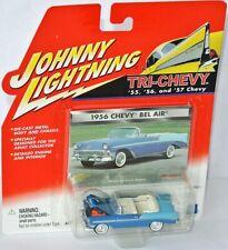 Tri-Chevy - 1956 CHEVY BEL AIR conv. - blue twotone - 1:64 Johnny LIghtning