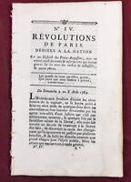 Nuit du 4 Août 1789 Choisy le Roi Chateau Lalande Bastille Provins Saint Denis