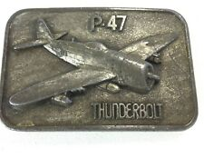 """P-47 Thunderbolt Airplane Metal Belt Buckle """"The Buckle Connection"""" Excellent"""