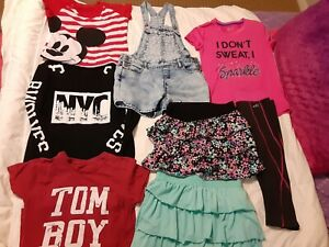 Lot of Girls Clothes size 16/XS 8 pieces. SO, BCG, DISNEY,