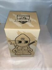 "Kidninja Mascot White 8"" - by Huck Gee and Kidrobot 2008 signed"