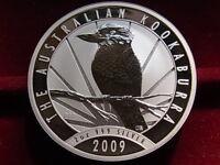 Australia. 2009  2 oz - Silver Kookaburra ($2)..  BU  - In capsule