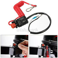 Outboard Cut off Boat Motor Kill Stop Switch Safety Tether Lanyard For