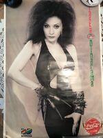 Poster Alaska CocaCola año 89.Fotografia Alvaro Villarrubia.Buen Estado.Fangoria