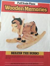 Wooden Memories Full Scale Rocking Horse Plans - Beezer The Burro