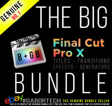 Final Cut Pro X - The 8+ GB Big Bundle. Effects, Generators, Titles, Transitions
