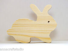 Rabbit- Animal wooden shape Other animals available-Real pine wood-Hand made-