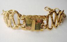 Amber Swarovski Crystal Pink Green Handmade Gemstone Bracelet Gold New Gift
