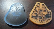 Lot of 2 1983 Star Wars Erasers - Darth Vader and Falcon COOL