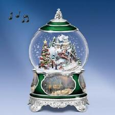 THOMAS KINKADE O Christmas Tree MUSICAL Snowglobe LIGHTS UP! NEW