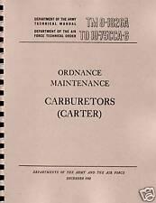 TM9 1826A ~ Carter Carb  Manual ~ Reprnt