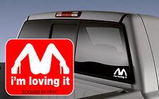 I'm Loving It McDonald's CAR Window Decal Lettering laptop truck motorcycle