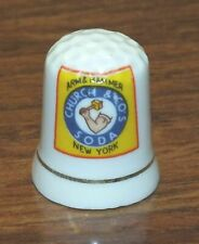 Arm & Hammer Church & Co's Soda White Ceramic Collectible Souvenir Thimble!