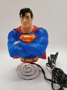 Superman Night Light Lamp DC Comics Popcorn Textured Plastic Tested! Free ship!