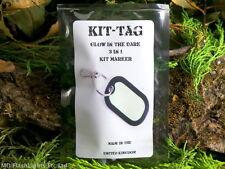 KIT-Tag 3 in 1 GLOW IN THE DARK KIT Marker PORTACHIAVI 30 ora Glow EDC bushcraft