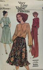 Vogue Very Easy Top, Skirt Trousers Sewing Pattern 9971 Uncut Size 12