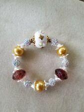 Beaded Stretch Bracelet New Lilah Ann Beads Crystal Glass Acrylic
