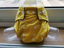 Reusable Washable Cloth Nappy with bamboo charcoal insert - Yellow
