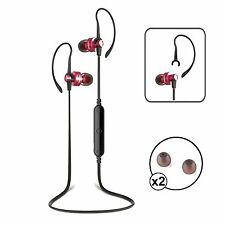 Wireless Bluetooth 4.0 Sport Headphones Headset iPhone Samsung Android Red/Black