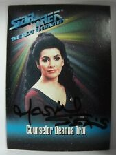 1993 Counselor Deanna Troi Star Trek The Next Generation Signed Card