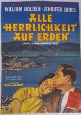 HOLDEN - JONES - LOVE IS A MANY SPLENDORED THING * RARE GERMAN ORIG POSTER!