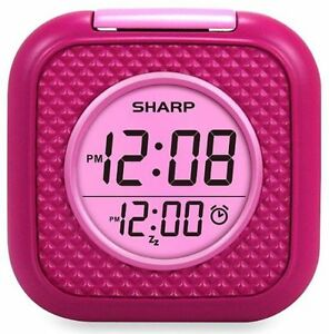 Alarm Clock Vibrating Pillow Alarm Digital - Help For Deafness - Pink - Sharp