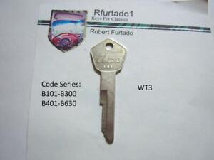 Key Blank for Vintage BMW door/trunk 1968-76 (see code series) WT3