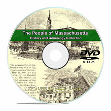 Massachusetts MA, People Family Tree History & Genealogy 110 Books DVD CD B06