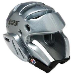 ProForce Lightning Child Kids Sparring Helmet Headgear Silver Large Martial Arts