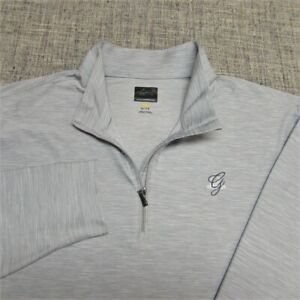 GREG NORMAN POLY SPANDEX 1/4 ZIP GOLF PULLOVER--XL-the GREENBRIAR!!--TOP QUALITY
