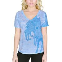 Pegasus Mythical Winged Horse Women's Slouchy V-Neck T Shirt