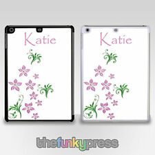 Pink Flower Pattern Cases Personalised With Your Name iPad 2,3,4 Mini Air Air 2