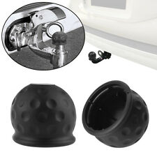 50mm Trailer Black Rubber Towball Protect Tow Bar Ball Case Car Hitch Cover