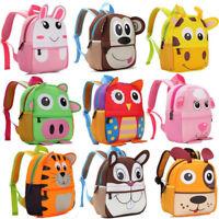 Toddler Kids Boy Girl 3D Cartoon Animal Backpack School Bag Kindergarten