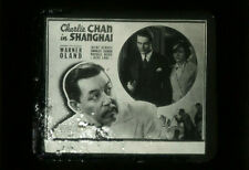 CHARLIE CHAN IN SHANGHAI - Rare 1935 Mystery Film WARNER OLAND Movie Glass Slide