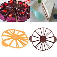 Pie Marker Cutter Cake Divider 10/12 Piece Round Slicer Slice Equal Portion UK